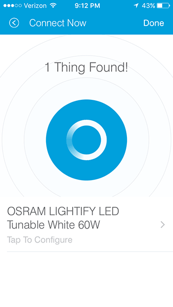 OSRAM Lightify - Adding Bulb to Samsung Smartthings