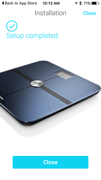 Withing Smart Scale - Setup Completed