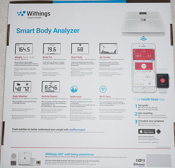 Withings Wifi Smart Body Analyzer Scale - Back Box
