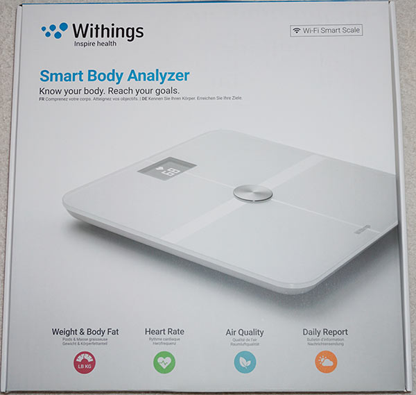 Withings Wifi Smart Body Analyzer Scale - Front Box