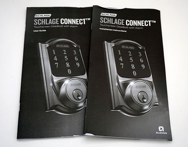 Schlage Z-Wave Touchscreen Door Lock - Instruction Manuals