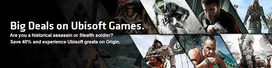 40% off Ubisoft games on Origin