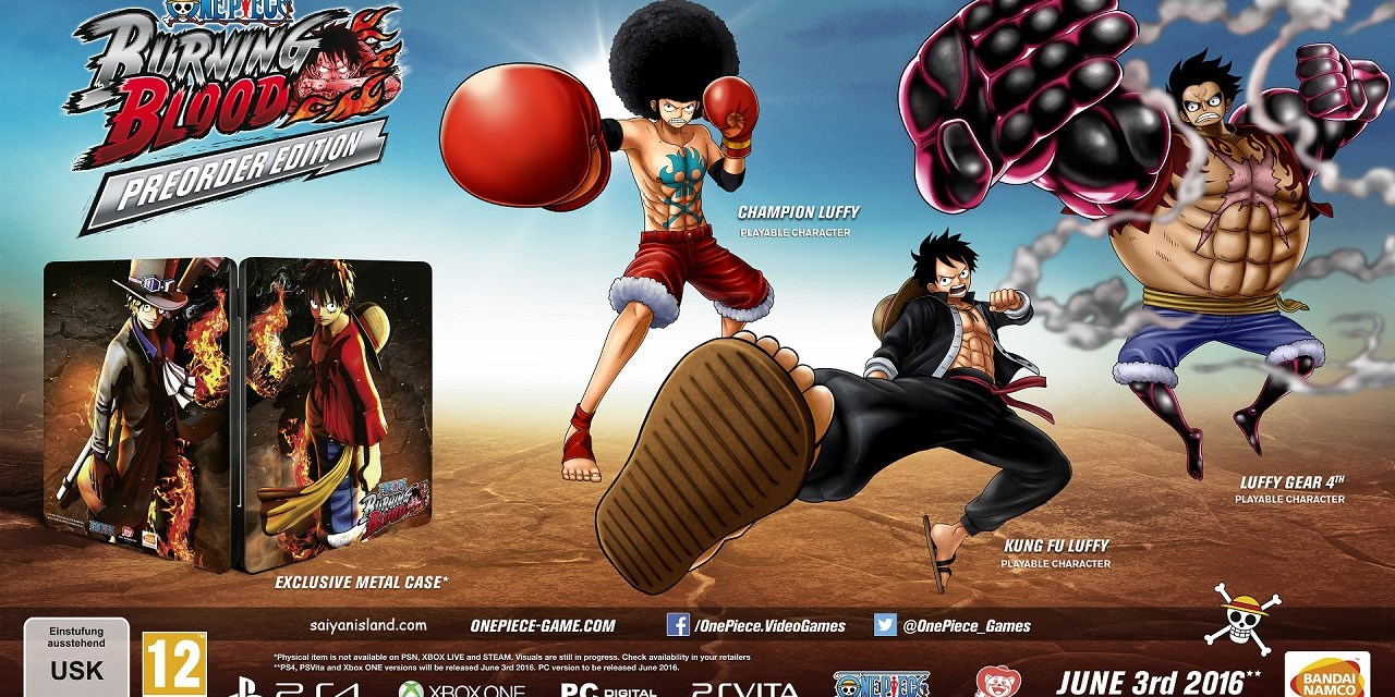 Pre-Order ONE PIECE BURNING BLOOD Now on Playstation Network!