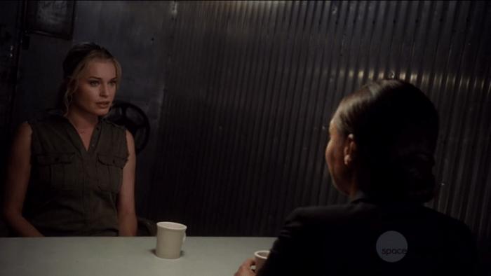 The Librarians S03E09 Eve Interrogation