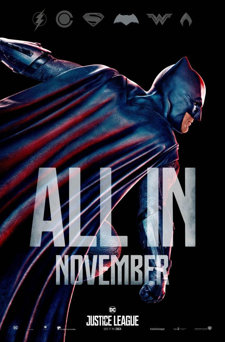 Justice League Batman action poster