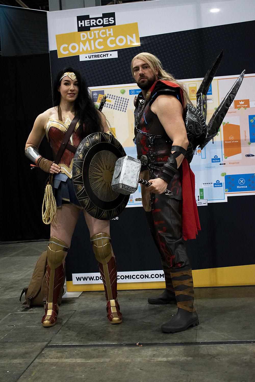 Dutch Comic Con Winter Editie 2018: Cosplay Wonder Woman Thor Ragnarok
