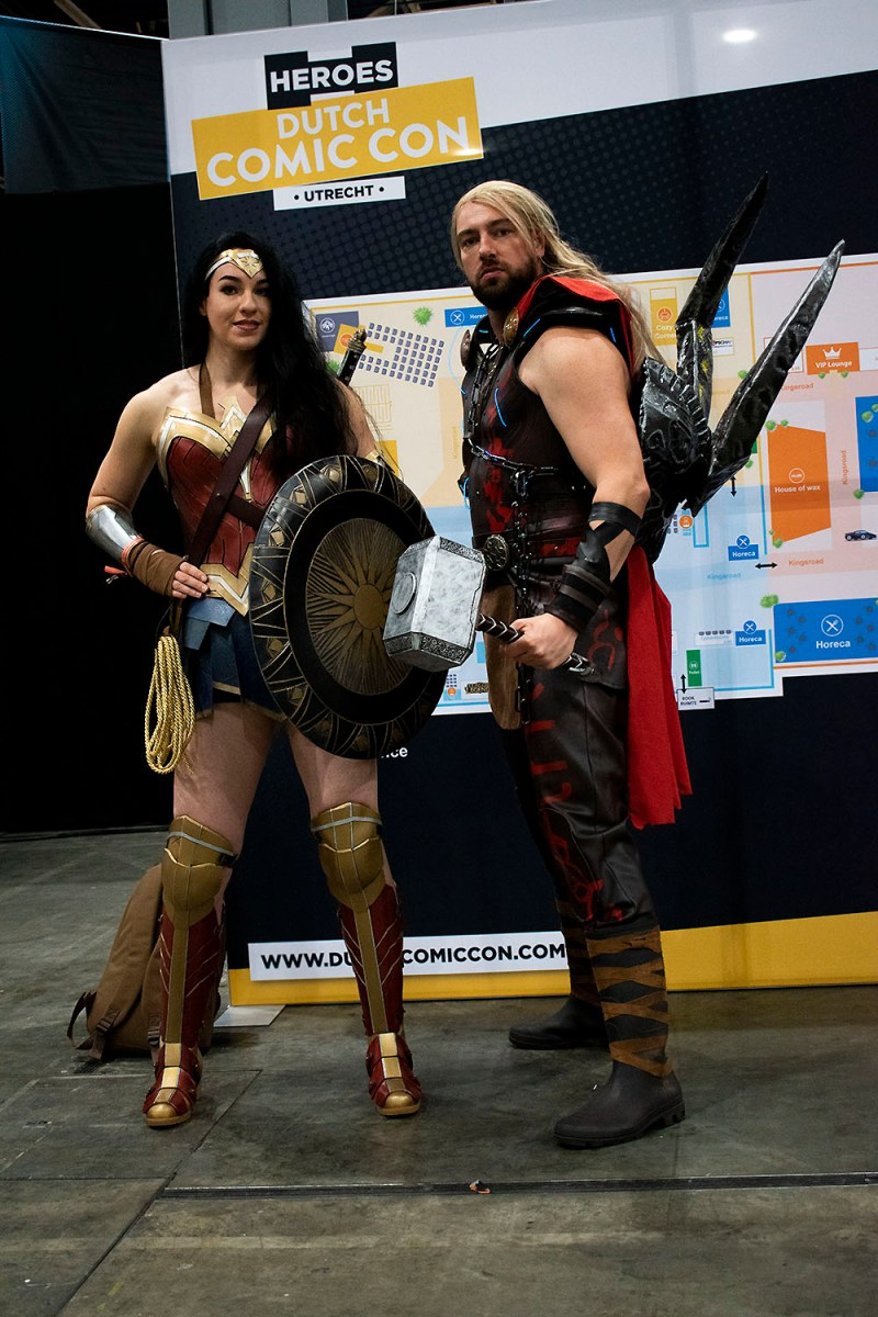 Dutch Comic Con Winter Editie 2018: Cosplay Wonder Woman Thor Ragnarok