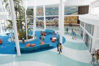 Cabana Bay Beach Resort Lobby Image courtesy of Universal Orlando Resort