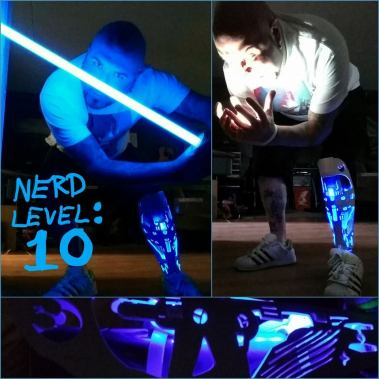 A leg that glows in the dark? Yes please.