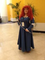 This Merida told me her costume was easy to make. Her hair was awesome.
