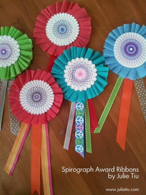 DIY Paper Award Ribbons