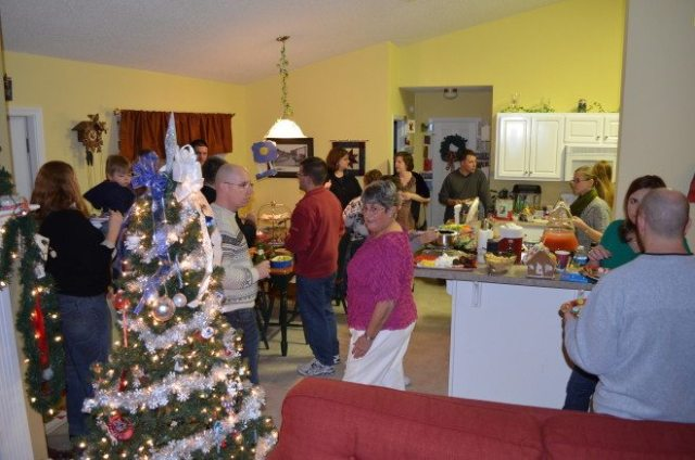 Our family hosts a fun open house for our friends and neighbors. This is a popular holiday tradition, particularly among military families. This is from our 2012 open house when we were still living in Florida. Photo: Patricia Vollmer.