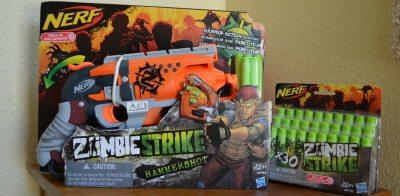 The Nerf Zombie Strike line of dart blasters. Photo: Patricia Vollmer.