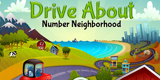 Drive About: Number Neighbourhood © Artgig Apps