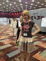 Emily Lakdawalla, blogger for The Planetary Society, wore this awesome Mars Rover skirt from Etsy shop Go Follow Rabbits at last year's annual meeting of the Division for Planetary Sciences of the American Astronomical Society.