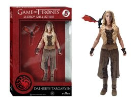 The Daenerys Targaryen Legacy Action Figure is 6 inches tall and comes with Drogon the dragon. Image: Funko.