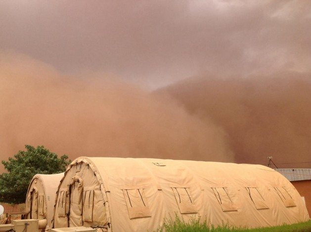 A haboob or shamal in southwest Asia. Photo: Jim Leurck, used with permission.