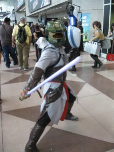 Master Chief as a Jedi assassin with a portal gun. Consider your argument invalid. Photo credit-Ben Stolz