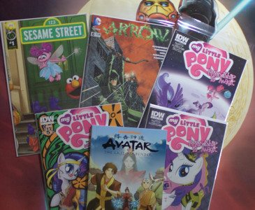 Our purchases from the day. My Little Pony for the boy, Avatar and Arrow for the parents.