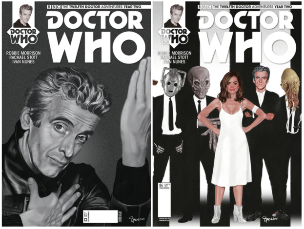 The Doctor will get some fantastic retro rock makeovers this year. All images courtesy Titan Comics.