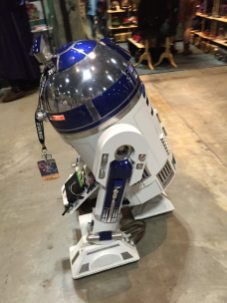 Remote controlled R2D2.