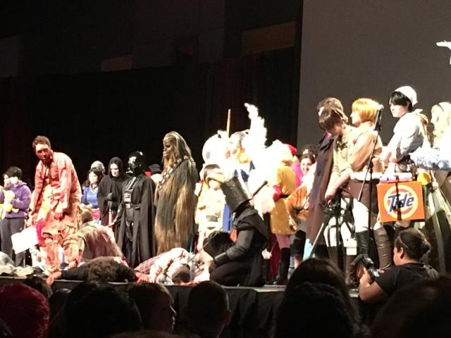 The best shot I could get of the Cosplay Death Match contestants. photo via Corrina Lawson