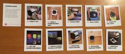 Helpful quick start cards. Photo: Jenny Bristol