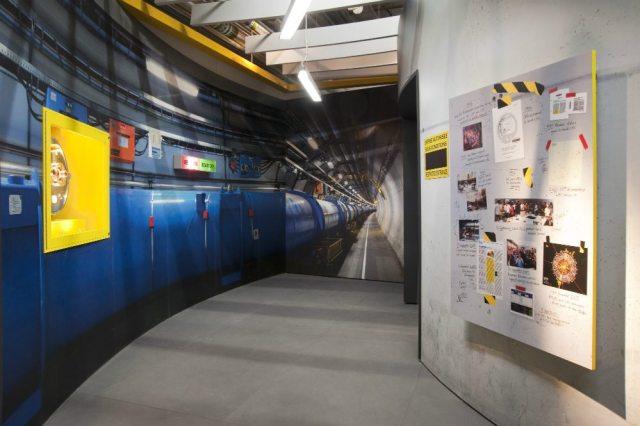 Replica of CERN Hallway