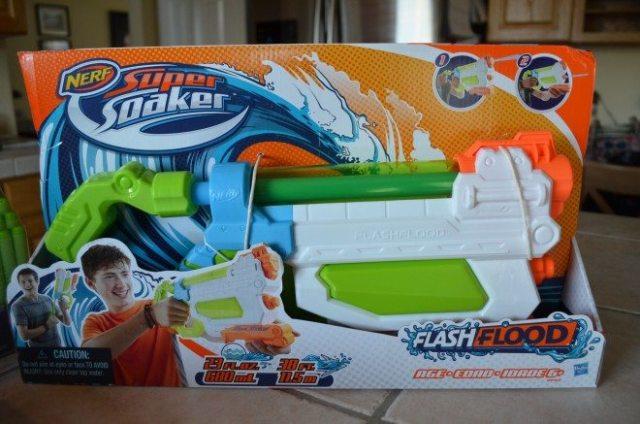The Nerf Super Soaker FlashFlood water blaster. Photo: Patricia Vollmer.