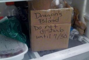 Dragon's Blood for your next Potions Class! Remember to keep refrigerated!