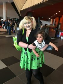 Riddler Cosplay Parent