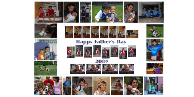 instead of scrapbook, a fathers day collage