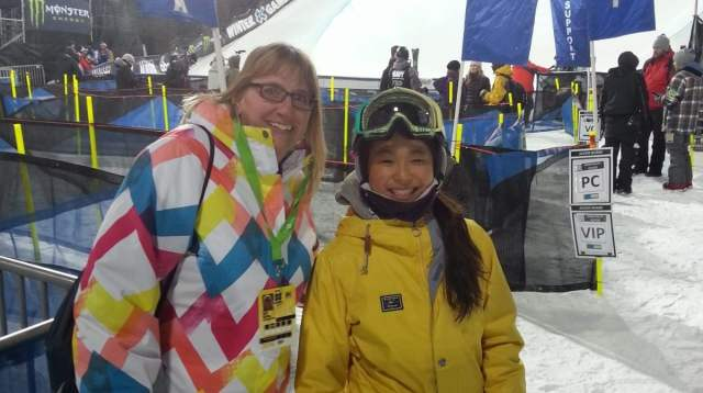 Chloe Kim at the Winter X Games.
