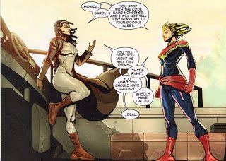 Monica Rambeau and Carol Danvers