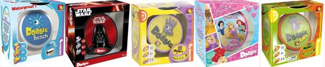 Some Different Versions of Dobble, Image: Asmodee UK