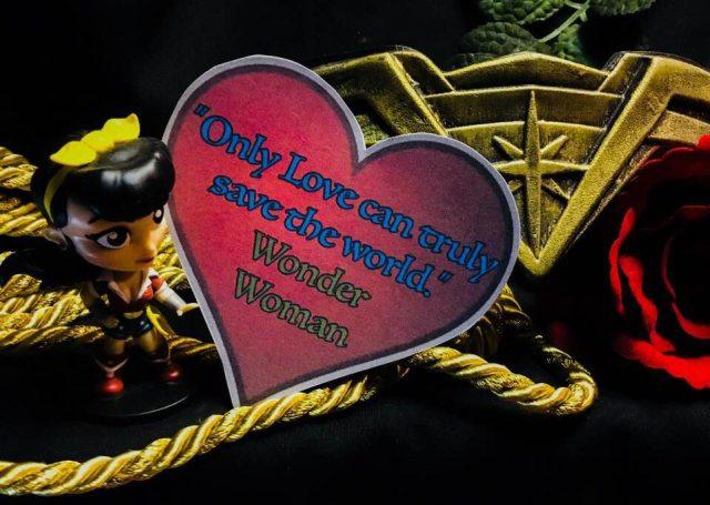 Wonder Woman geeky valentine