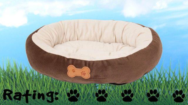 Aspen Pet Oval Bed with Bone Applique. Five paws! \ Image: Petmate.com