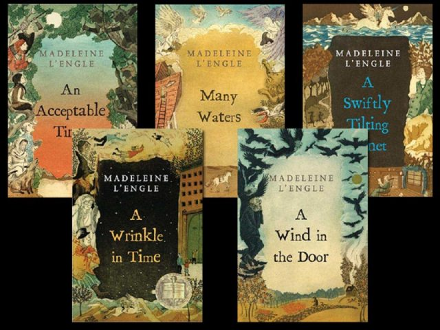 Five books of Madeleine L'Engle's Time Quintet