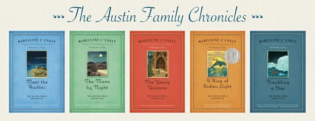 Five books of Madeleine L'Engle's Austin Family Chronicles