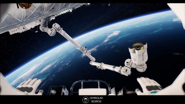 earthlight spacewalk opaque space