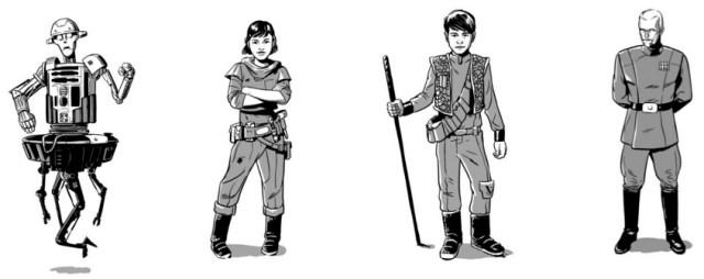 CR-8R, Lina, Milo, and Captain Korda, Image: Egmont Publishing