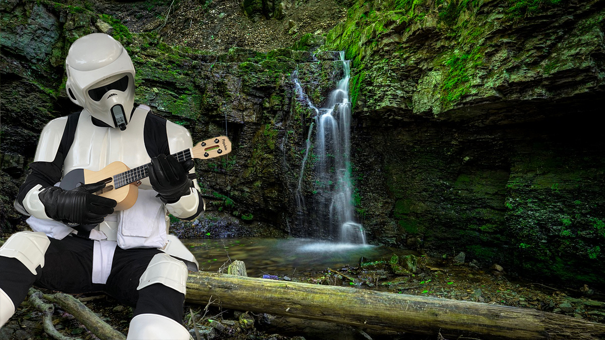 Anyone can play the Populele anywhere. Even a scout trooper.