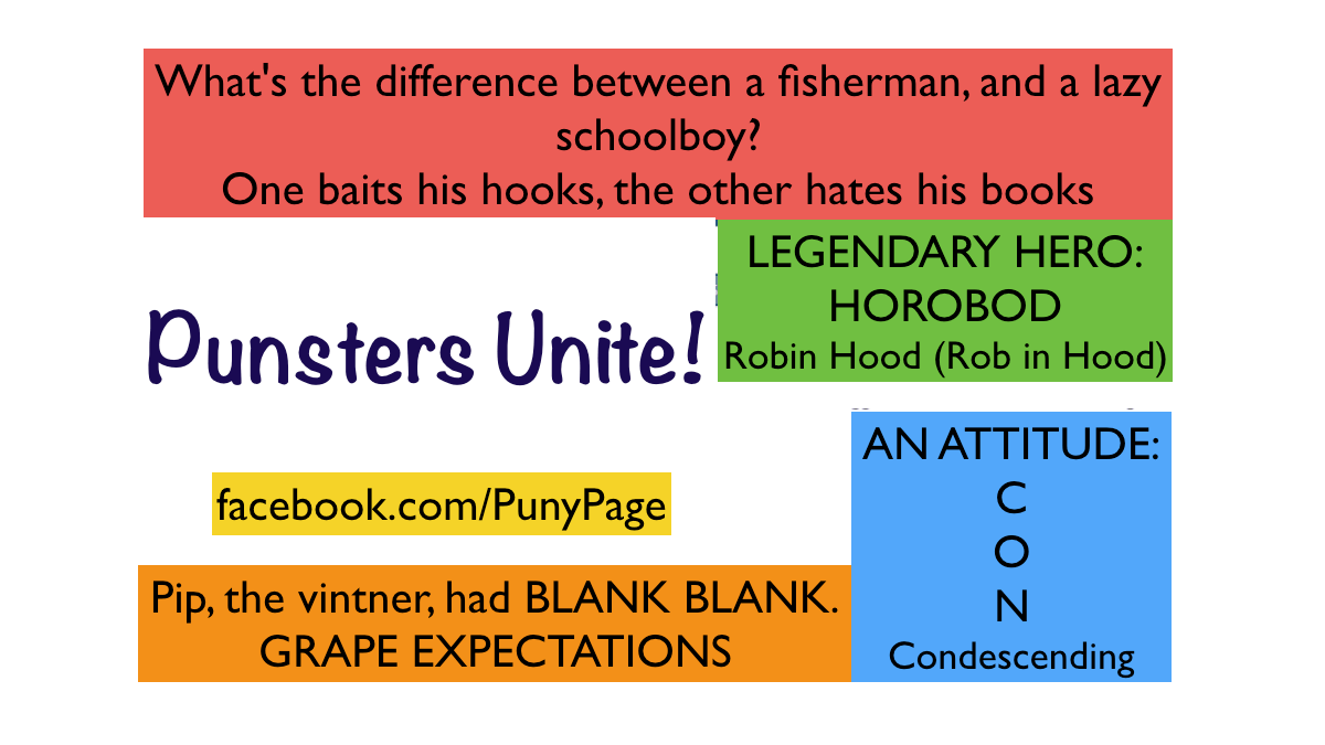 Punsters Unite!