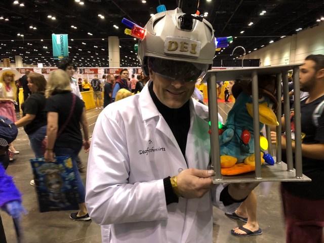 Dr. Doofenshmirtz with Perry. \ Image Dakster Sullivan