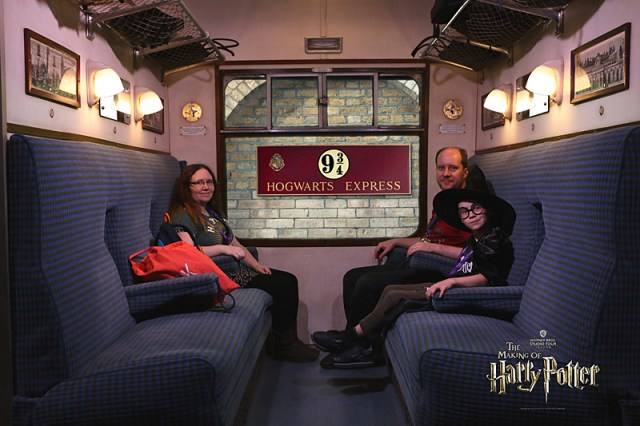 My Family Riding The Hogwarts Express, Image: Warner Bros