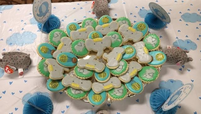 baby shower custom cookies