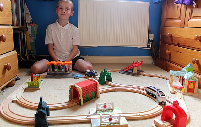 The Brio Smart Tech integrated into a larger wooden train set, Image: Sophie Brown