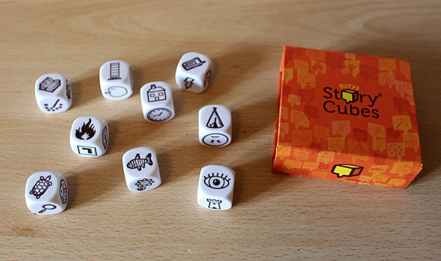 The Dice in a Rory's Story Cubes Original Set, Image: Sophie Brown