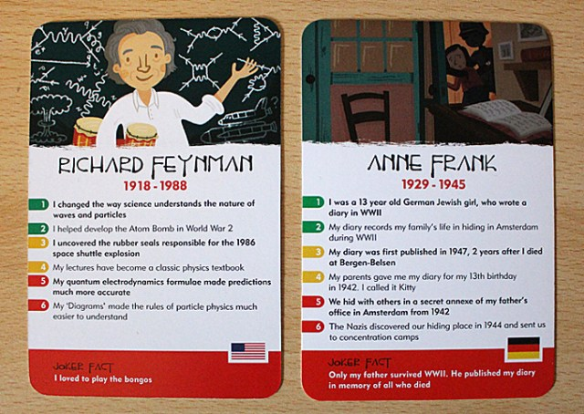 Sample Cards from History Heroes, Image: Sophie Brown