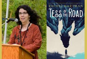 Rachel Hartman and Tess of the Road cover